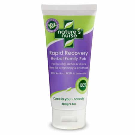 Rapid Recovery Family Care Cream - ideal for natural back & hip pain relief in pregnancy and for so many uses for all your family - bumps and bruises, sprains strains, arthritis, swollen joints, fibromyalgia