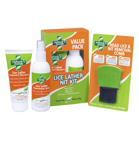 Lice Lather Value Pack with Head Lice Treatment Shampoo, Prevention Spray & Nit Removal Comb - effective lice treatment best in NZ -smells great works fast and keeps your family free from nasty nits and horrible headlice fast