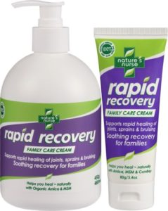 Rapid Recovery Family Care Cream- Arnica MSM Cream Pain Relief Cream Muscle relaxant anti-inflammatory Arthritis care Bruise cream 100% natural