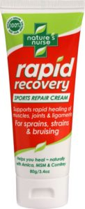 Rapid Recovery Sports Repair Cream for fast acting relief and healing of sprains and strains & bruising of muscles joints and ligaments