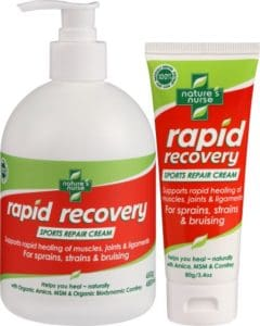 Rapid Recovery Sports Repair Cream Value Pack for fast acting relief and healing of sprains and strains & bruising of muscles joints and ligaments