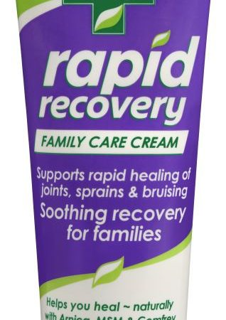 Rapid Recovery Family Care Cream 80g tube supports rapid healing of muscles joints, sprains & bruising, arthritis, muscle pain, fibromyalgia and rheumatoid arthritis - fast safe, effective pain relief cream 100% natural.